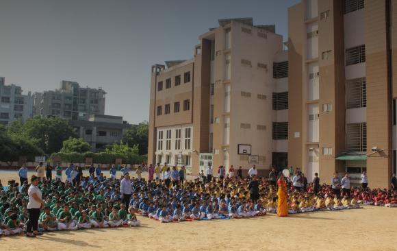 Children's day celebrations at Adarsh World School.